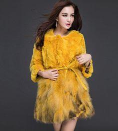 Rex Rabbit Raccoon  Fur Women Clothing Coat Jacket Cardigan Coat Overcoat Garmet #Furfox #BasicCoat