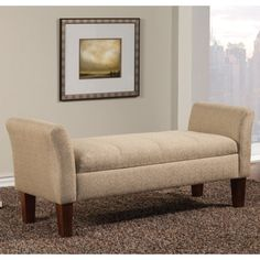 Coaster Benches Storage Bench in Tan Woven Fabric - Coaster Fine Furniture