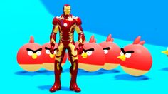 Marvel Superhero Iron Man & Angry Birds Playtime at POOL PARTY w/ Nursery Rhymes Songs for Kids - http://www.comics2film.com/marvel/superheroes/iron-man/marvel-superhero-iron-man-angry-birds-playtime-at-pool-party-w-nursery-rhymes-songs-for-kids/  #marvel #dc
