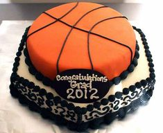Fondant Basketball Cakes | Tiered Fondant Basketball Cake