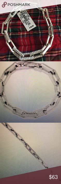 "NWT Brighton Hudson Link Bracelet JB8302 Wow!  This New with Tags Brighton Bracelet is amazing.  Width 1/2"". Fold over clasp. Length 7 1/4"" Witt Swarovski Crystal!  Retails $80! Brighton Jewelry Bracelets"
