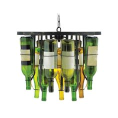 And to go with that wine glass chandelier... wine bottles!