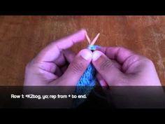Slanting Open-Work Stitch :: Knitting #21 :: New Stitch A Day