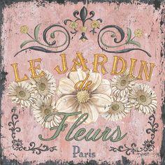 Dree printable french postal flowers. Imprimible postal francesa de flores.