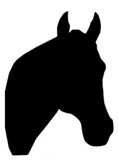 Horse Silhouette, Silhouette Clip Art, Horse Face, Horse Head, Stencil Patterns, Applique Patterns, Arte Equina, Horse Stencil, Face Outline