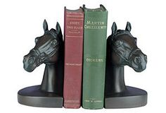 Horse-Head Bookends  $69.00