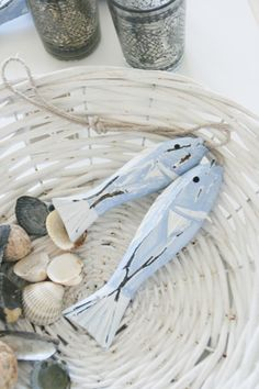 DRIFTWOOD FISH PAINTED BY THE FUTURE PICASSO...