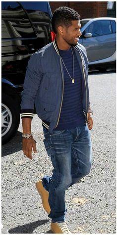 Sensational Usher Raymond Male Dominance Pinterest Mens Outfits Hairstyles For Men Maxibearus