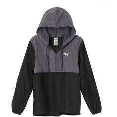 Amazon.com: Victoria's Secret Pink Anorak Windbreaker Jacket... ($9.72) ❤ liked on Polyvore featuring victoria's secret