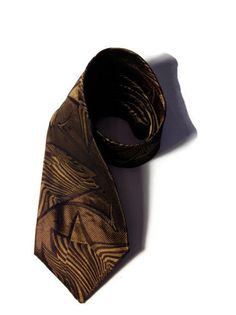 Men's handmade brown silk designer tie by Scabal made in Italy by Scabal, $16.99 etsy.com/shop/bloompepper   bloompepper.com