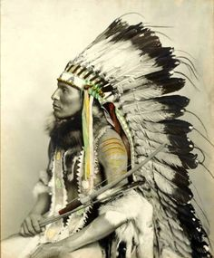 Native American Indian colored photograph