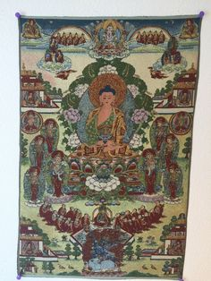 buy meditation yoga inspired Tibetan thangka Amitabha Buddha at www.explosionluck.com