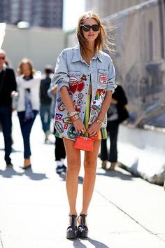 Chiara Ferragni während der New York Fashion Week #streetstyle