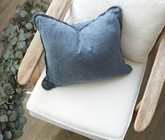 Fall blues. Pretty pillow collection.