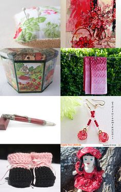 Strawberry Fields  by Marionette on Etsy--Pinned with TreasuryPin.com