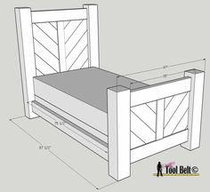 Rustic Barnwood Twin Bed Plan