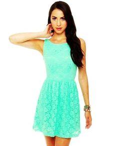 Cute Mint Green Dress - Lace Dress - Mint Dress - $41.00, valentine's day dress www.loveitsomuch.com