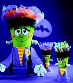 Trick or Treat monster pots.
