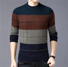 Cashmere Sweater Men Casual O-Neck Pullover Cashmere Sweater Men, Men Sweater, Cashmere Wool, Black Poncho, Black Hoodie, Mens Knitted Cardigan, Poncho Sweater, Stylish Men, Men Casual