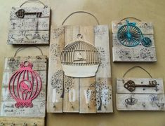 Inspiration for small wall projects. Arte Pallet, Pallet Art, Wood Crafts, Diy And Crafts, Arts And Crafts, Decoupage Vintage, Vintage Decor, Wood Projects, Craft Projects