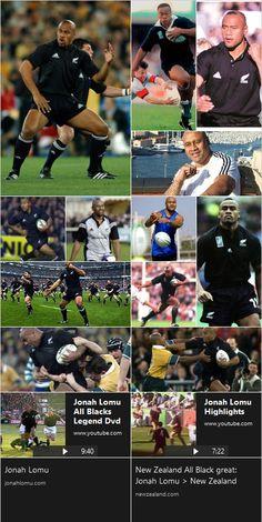 Jonah Lomu Jonah Lomu, Black Highlights, All Blacks, Rugby, Athlete, Football