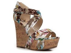 Prinzess printed wedge sandals from G by Guess. Hello, summer shoe!