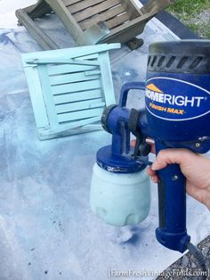 Painted Adirondack Chairs | HomeRight Finish Max | DIY Paint - Farm Fresh Vintage Finds