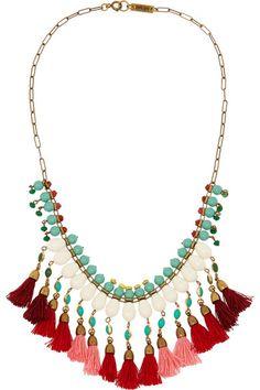 Isabel Marant | Collier en plaqué or orné de perles | NET-A-PORTER.COM