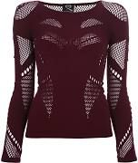 MCQ BY ALEXANDER MCQUEEN stretch mesh panel top