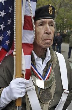 Frank Squirrel, Cherokee Nation color guard, Korean War veteran. Thank you Mr. Squirrel for your service to BOTH Nations.