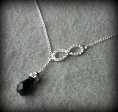 Lariat Crystal Infinity Necklace Tophatter.com!