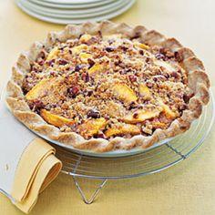 Blue Ribbon Peach Praline Pie Recipe | Just A Pinch Recipes