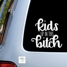 """5.5/"""" tall BABY UP IN THIS B*TCH Funny Bumper Sticker Set of 2 Stickers"""