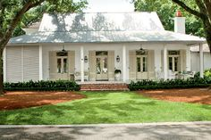 Creole-French Style Cottage | Curb Appeal | Metal Roof | Porch | Southern Living - Time to Build