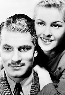 """Laurence Olivier & Joan Fontaine in Rebecca,  Directed by Alfred Hitchcock. Favorite Scene - I'm paraphrasing. Joan Fontain - I do no think she is ever named in the movie- is stumbling around worried that Maxim is still in love with Rebecca - and he says"""" You little fool. Love her, I hated her."""