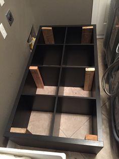 Converting An Ikea Kallax Book Shelf Into A Washer Dryer Pedestal