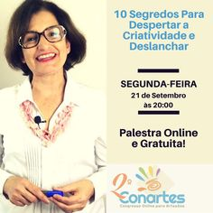 Queridooos artistas é hoje que estarei palestrando no 2º Conartes  Programe-se pois te espero às 20:00 do horário de Brasília!  Vou contar pra vocês meus 10 Segredos para Despertar a Criatividade e Deslanchar de vez!  O mais legal é que será transmitida GRATUITAMENTE nesse Congresso que acontece completamente online e é gratuito .  Quem quiser me assistir e assistir ao congresso inteiro inscreva-se grátis em: http://duna.vc/duna-conartes  #Dicas #DunaAtelier #Conartes #Palestra…