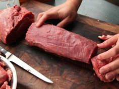 Beef tenderloin is the most expensive cut of meat on the steer. At a good butcher or supermarket, a trimmed center-cut tenderloin can run you as much as $25 to $30 per pound! But there are ways to minimize that cost. The best way is to buy the tenderloin whole and untrimmed, bring it home, and trim it yourself.