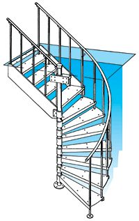 Metal Spiral Staircases and Custom Design Staircases by The Iron Shop