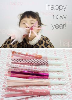 ~Ruffles And Stuff~: Happy New Year! DIY Party Blowers!