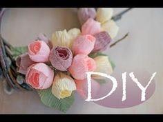 (71) Маленький венок на дверь с цветами DIY Tsvoric - YouTube