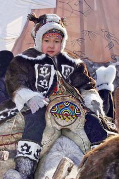 The Sakha (Yakutia) Republic, Russia, the third international Congress of reindeer herders, March 2005.