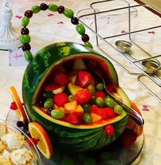 Watermelon Baby Carriage. I Was Giving A Shower And Asked My Engineer  Husband To Make. Baby Fruit BasketsFruits BasketWatermelon ...