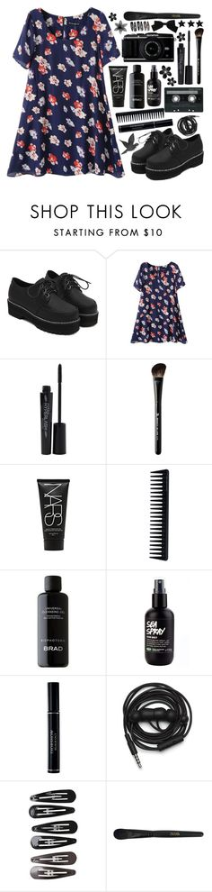 """""""Untitled #795"""" by nightlock ❤ liked on Polyvore featuring WithChic, Smashbox, CASSETTE, Beauty Is Life, NARS Cosmetics, GHD, BRAD Biophotonic Skin Care, Christian Dior, Urbanears and SHAN"""