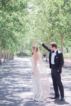 Dancing with his bride: http://www.stylemepretty.com/2016/09/09/italian-style-garden-wedding-in-napa/ Photography: Lori Paladino - http://loriphoto.com/#home/