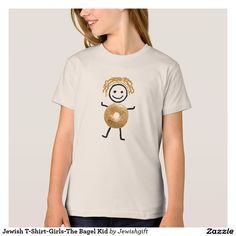 Jewish T-Shirt-Girls-The Bagel Kid T-Shirt