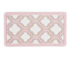 Tappeto bagno in poliammide Tiffany rosa, 140x80 cm