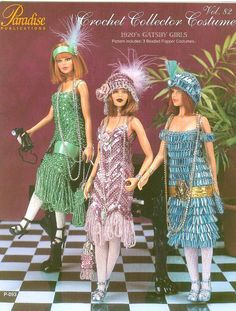 PDF crochet Barbie Gatsby filles, Robe charleston, Crochet eBook, Motif, Téléchargement instantané, Vintage, Anglais