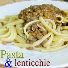 PASTA E LENTICCHIE #pasta #lenticchie #pastavegetariana #pastaconlenticchie #sugodilenticchie #primoconlenticchie #primodipasta #ricettafacile #ricettavegetariana #pastafacile #pentolaapressione
