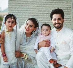 family goals with wife Ayeza khan and beautiful kids . Pakistani Models, Pakistani Girl, Pakistani Actress, Ayeza Khan, Cute Muslim Couples, Cute Couples, Pakistani Formal Dresses, Big Fat Indian Wedding, Cute Family